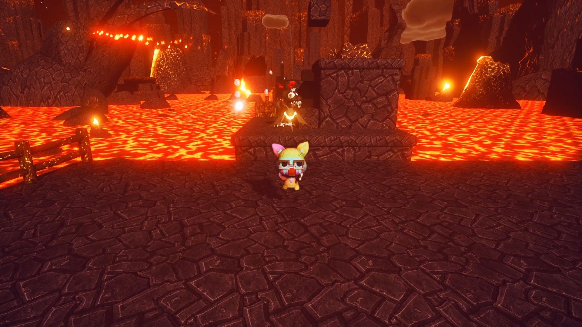 Screenshot of Neko Ghost, Jump!