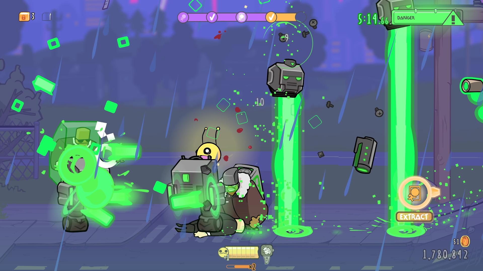 Screenshot of Alien Hominid Invasion.