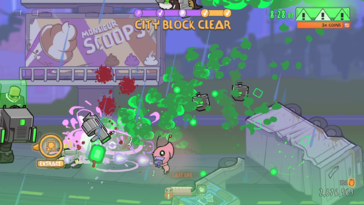 Screenshot of Alien Hominid Invasion