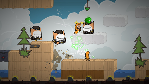 Screenshot of BattleBlock Theater.
