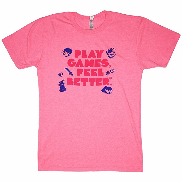 Play Games, Feel Better Hot Pink Tee