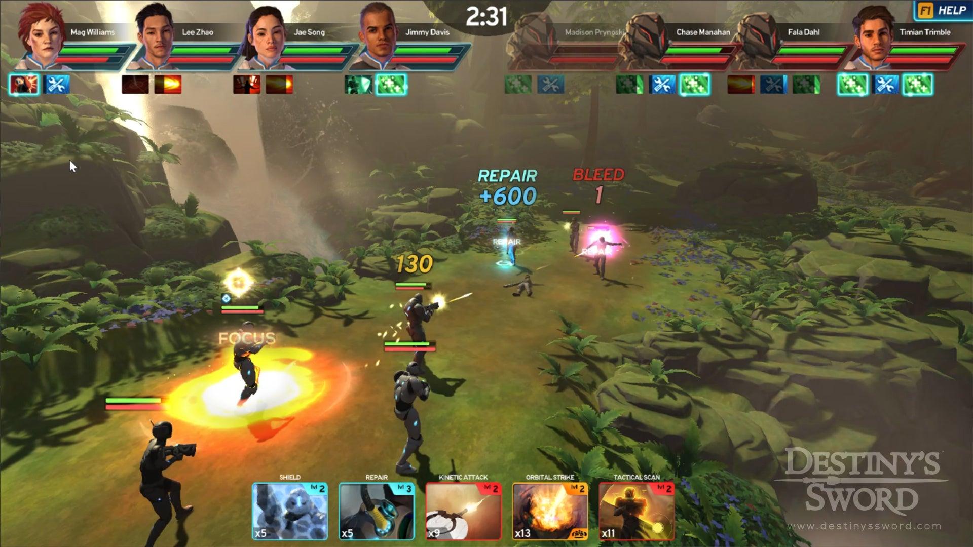 Screenshot of Destiny's Sword