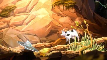 Screenshot of Moo Lander