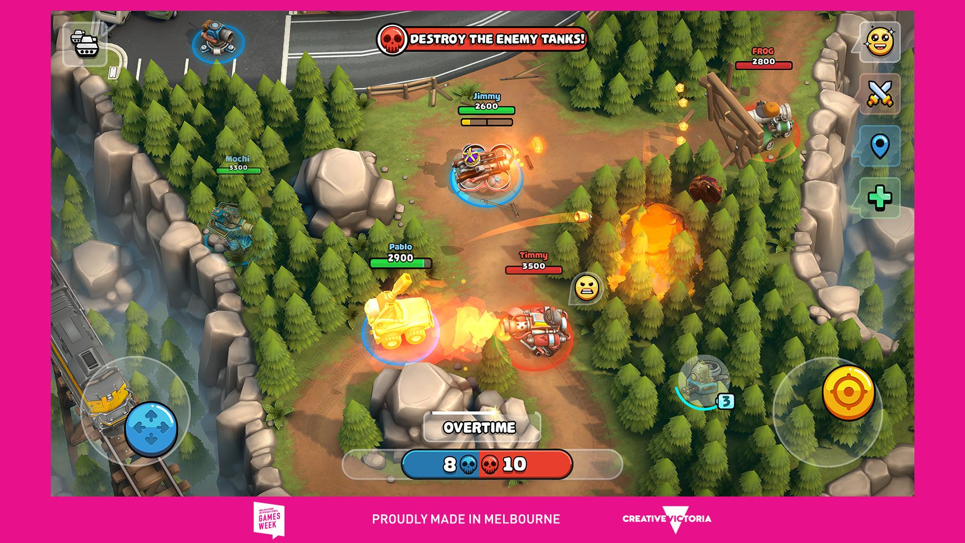 Screenshot of Pico Tanks: Multiplayer Mayhem