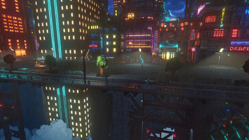 Screenshot of Cloudpunk