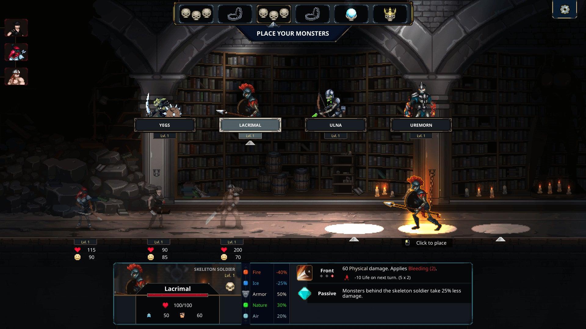 Screenshot of Legend of Keepers