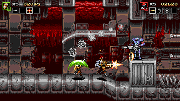 Screenshot of Blazing Chrome.